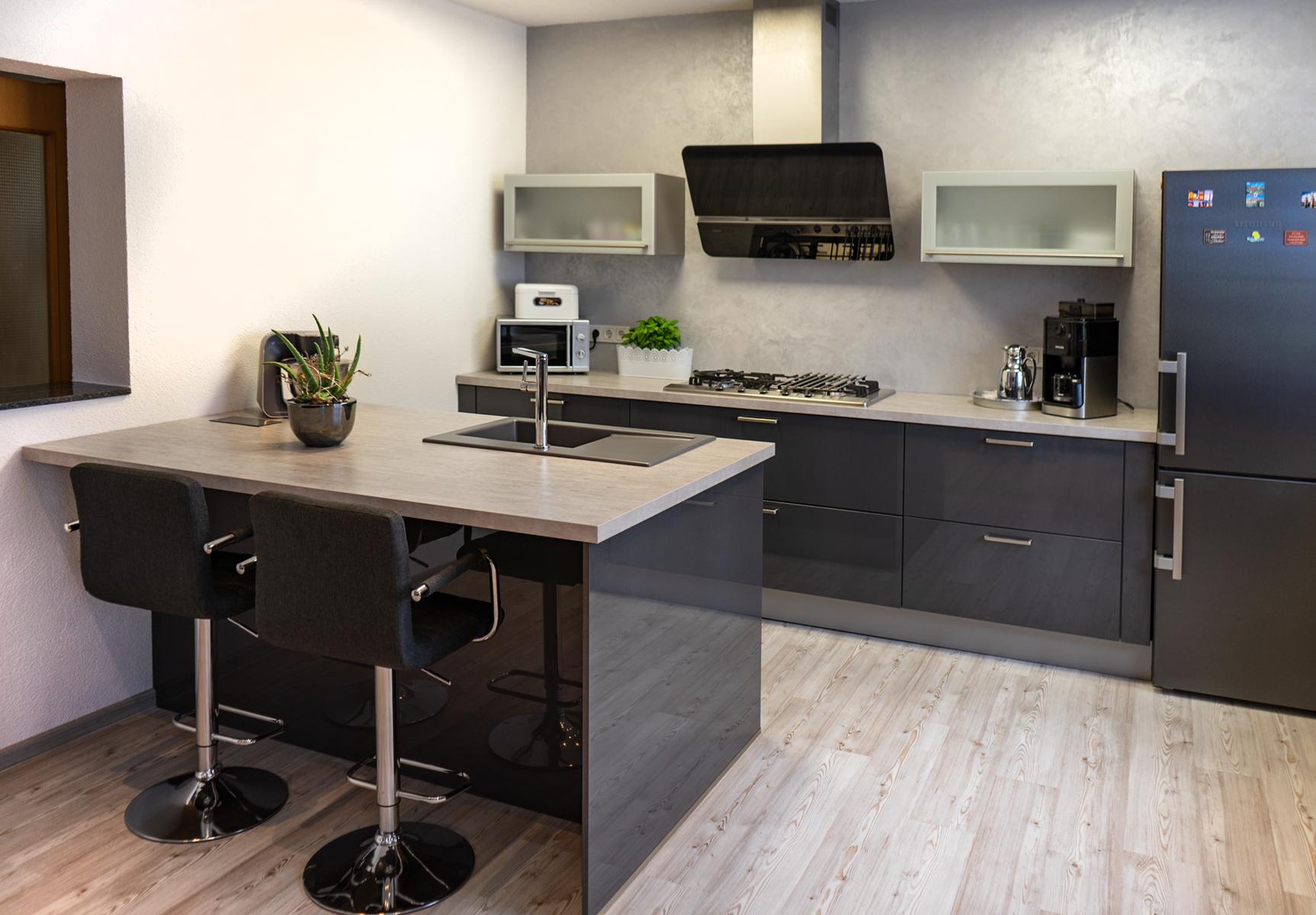 SAAR Küchen Ausstellungsküche Bous mit Insel