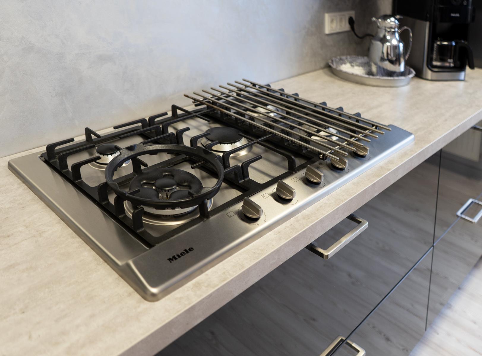 Gaskochfeld - SAAR Küchen Ausstellungsküche Bous mit Insel