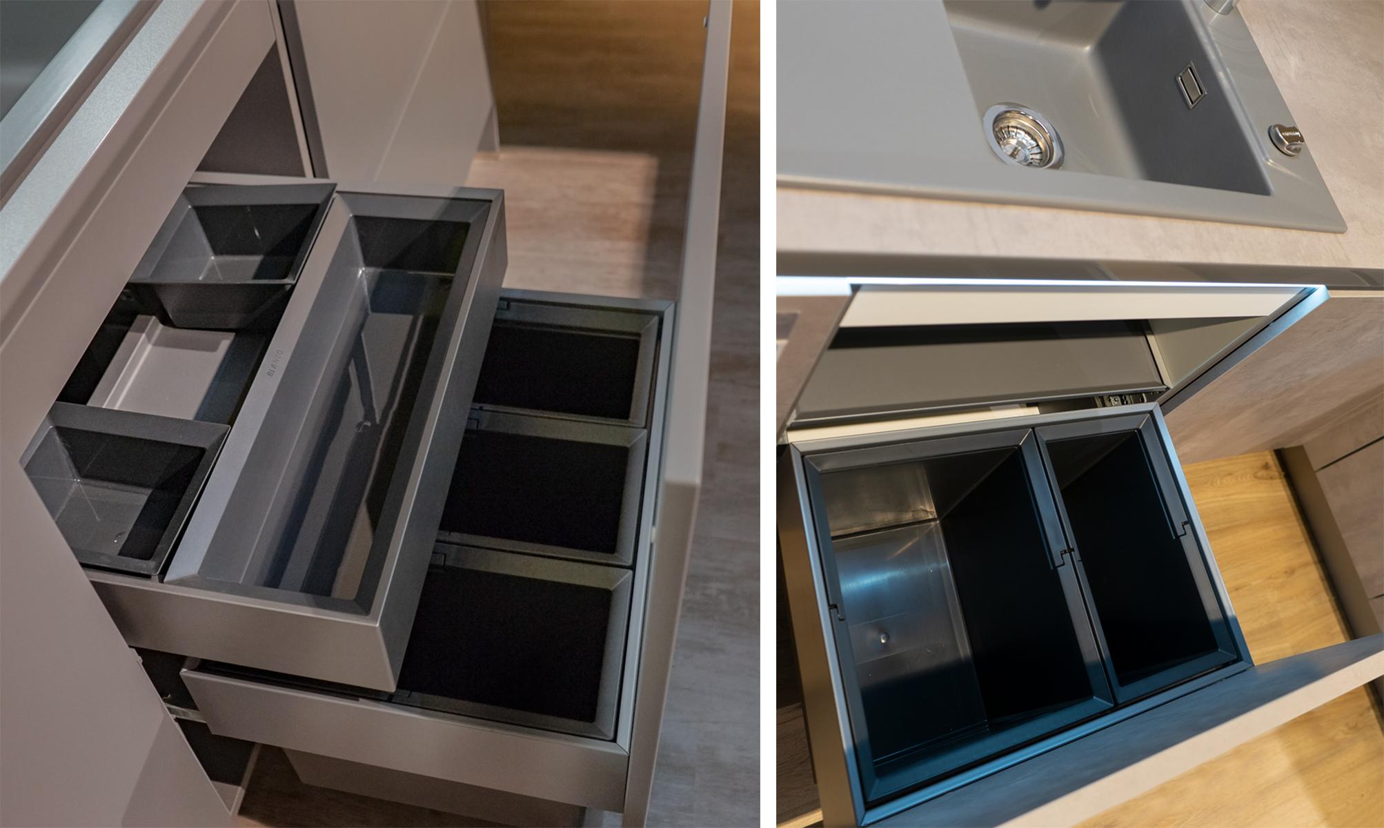 SAAR Küchen Ordnung Müllsystem