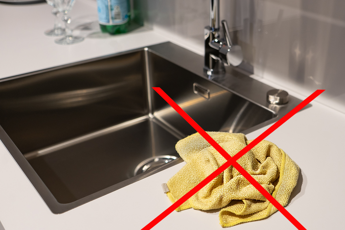 SAAR Küchen Tipps don'ts Mikrofasertuch